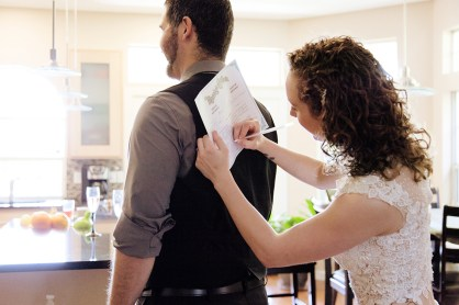 Singing the marriage certificate
