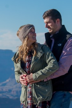 Grand Canyon Engagement Photos, Grand Canyon South Rim Grandeur Point, Yavapai Geology Museum