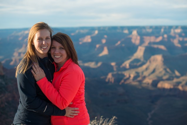 Shoshone Point, Grand Canyon, engagement proposal photography