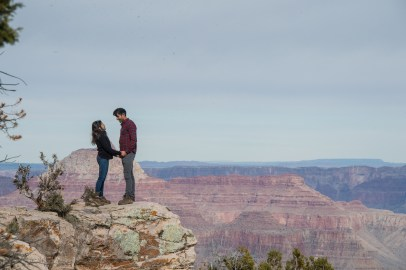 On the edge of Grand Canyon engagement proposal