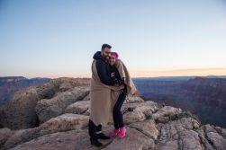 It was chilly that morning when he asked her to marry him on the edge of the canyon
