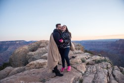 She said yes, can you tell? Sunrise engagements at Grand Canyon make for marriages full of adventure