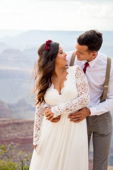 7.27.17 Kathleen and Gabriel Yavapai Point and Duck on a Rock Rock Grand Canyon South Rim Monsoon Season photography by Terri Attridge-245