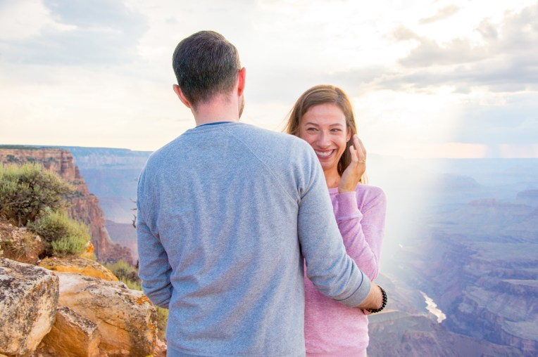 tears of joy shorty after this Grand Canyon engagement