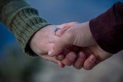 engagement ring shot at Grand Canyon