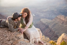 Epic proposal shots on the rim of Grand Canyon