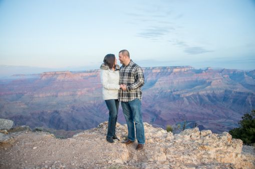 On the edge of Grand Canyon in the early morning light