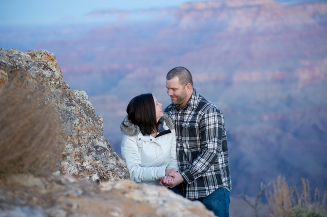 Early Morning at Grand Canyon - Newly Engaged Couple