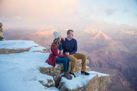 pink clouds at Grand Canyon