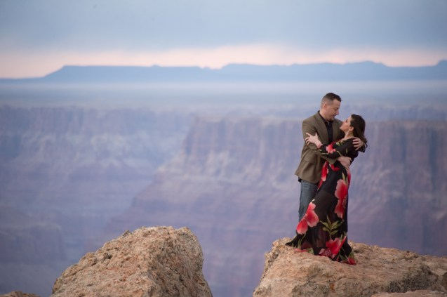 Grand Canyon engagement portrait
