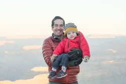 Dad and son photo at Grand Canyon