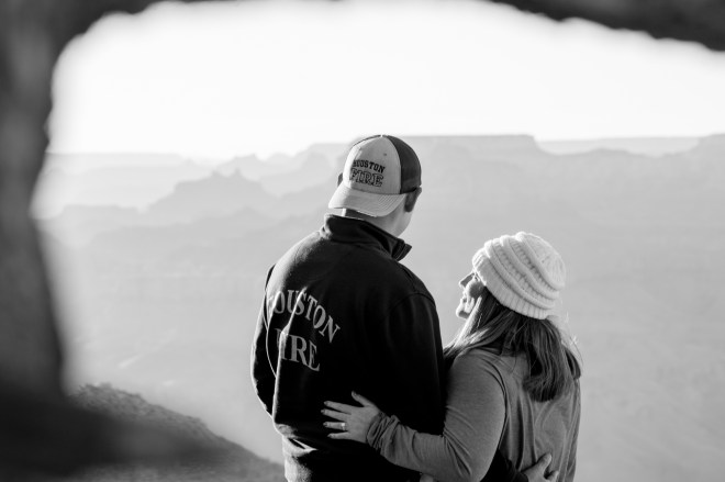 Black and White Surprise Engagement Proposal
