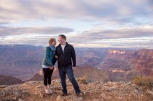 Neely engaged people on the rim of grand canyon