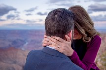 Engagement Ring Shot with Colorado River in Background