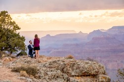 Down on one knee - Grand Canyon Proposal in Stormy Weather