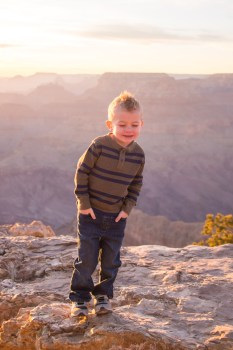Stetsen smiles and looks away at Lipan Point
