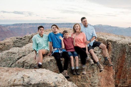 family photo at Grand Canyon National Park