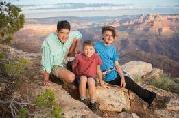 Grand Canyon sunset family portrait
