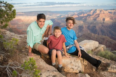 Grand Canyon sunset family portrait