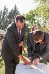 signing the mariage cert