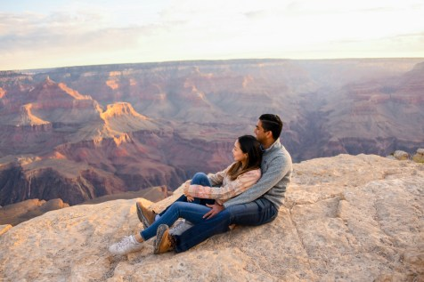 Cuddled in love at Grand Canyon