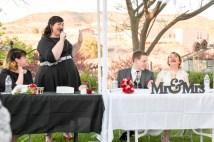 The toast at this Arizona Wedding