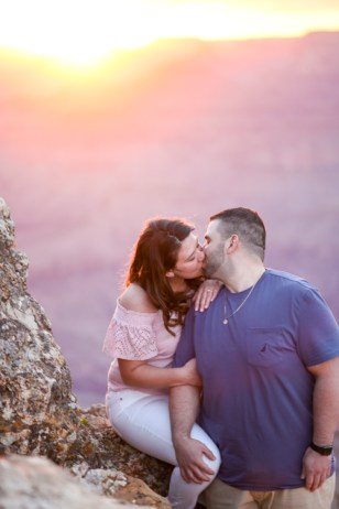 Couples photography at Grand Canyon