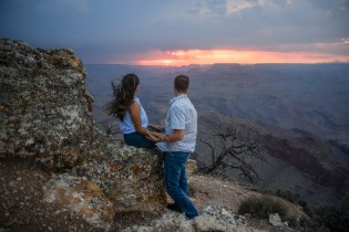 looking off into the sunset at Lipan Point Grand Canyon