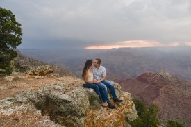 Engagement Proposal photography at Grand Canyon