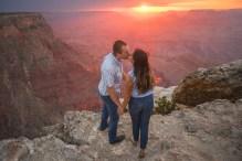 pink sunset at Grand Canyon