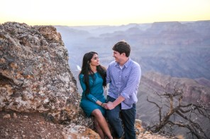 Discussing life on the edge of Grand Canyon, Surprise proposal at Grand Canyon