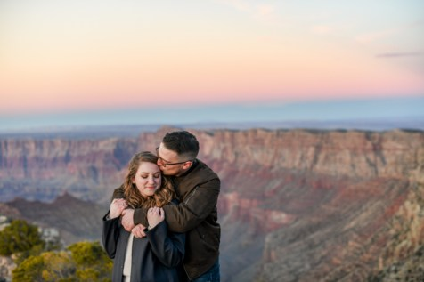 12.21.18 LR Sunset Engagement Proposal Lipan Point Tom and Megan photography by Terri Attridge-19