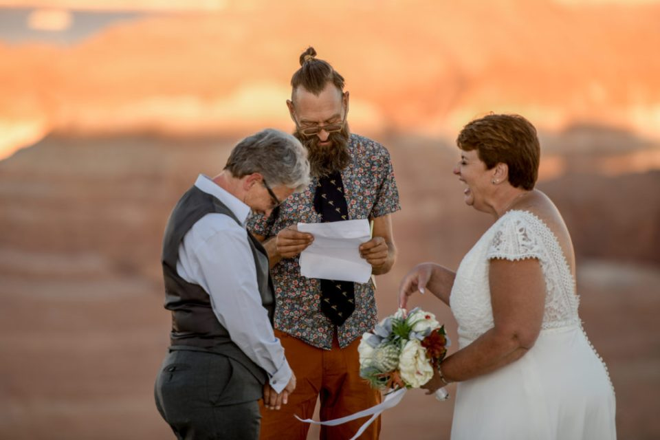 Laughing Hysterically on your elopement day