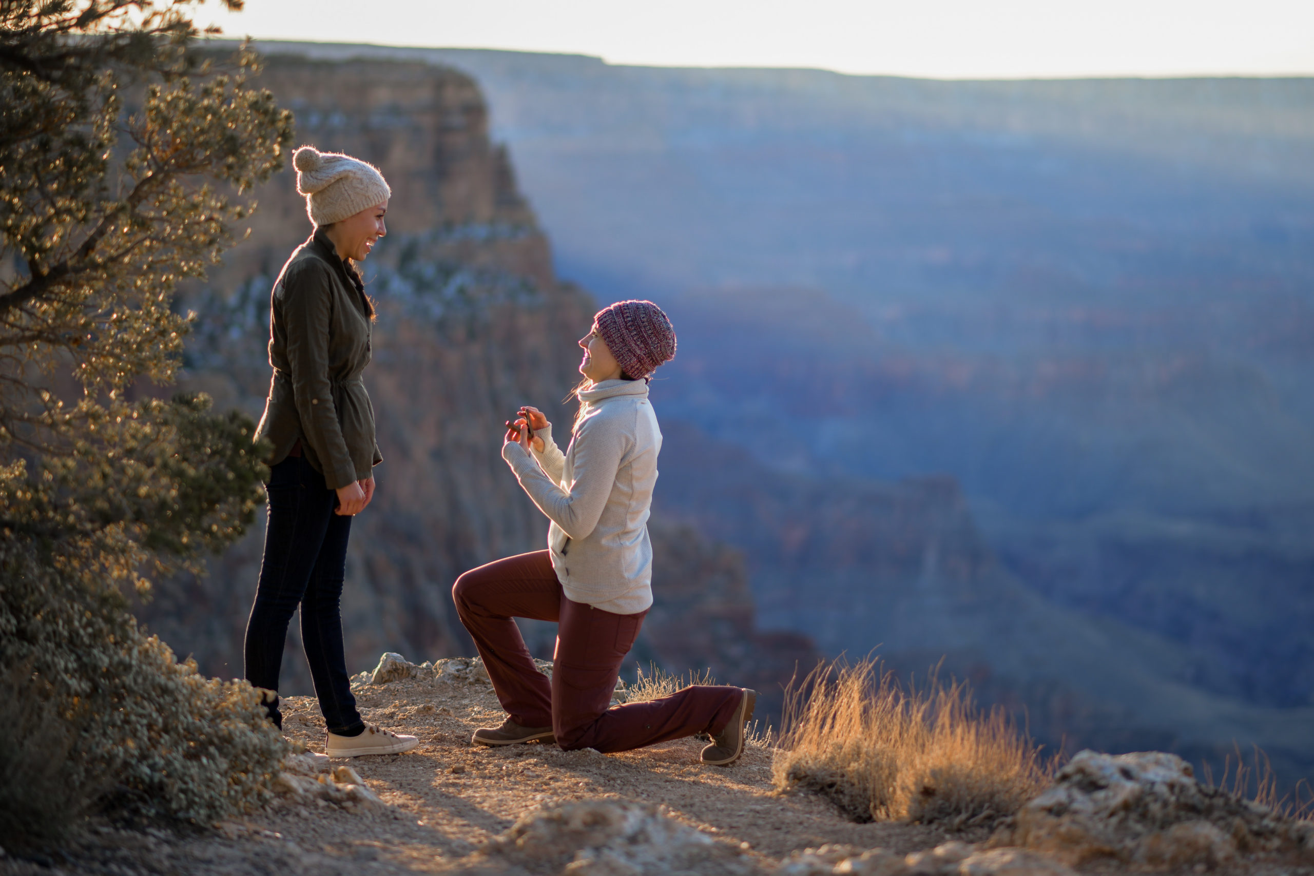 Lesbian Engagement at the South Rim