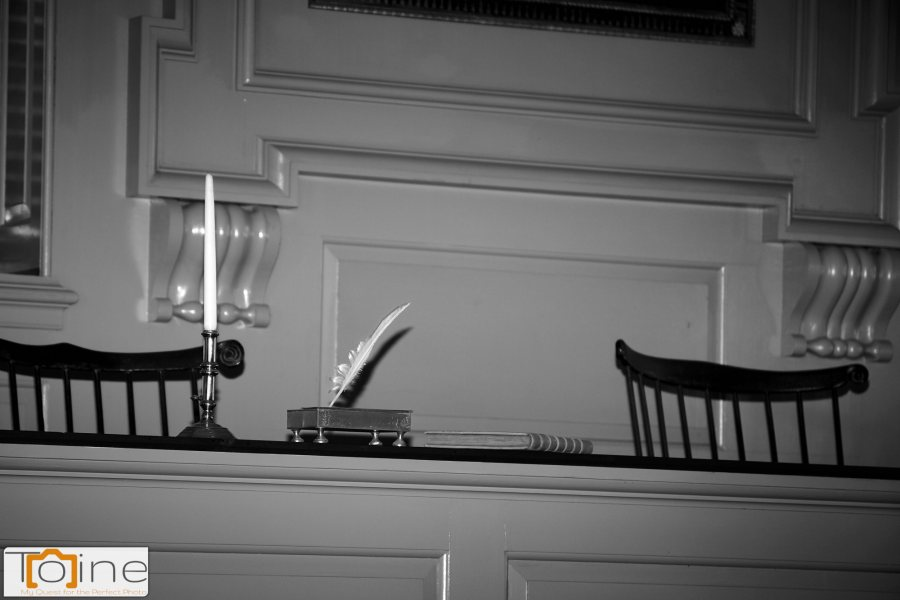 Closeup at Independence Hall.