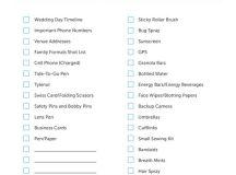 Free Wedding Photography Essentials Checklist
