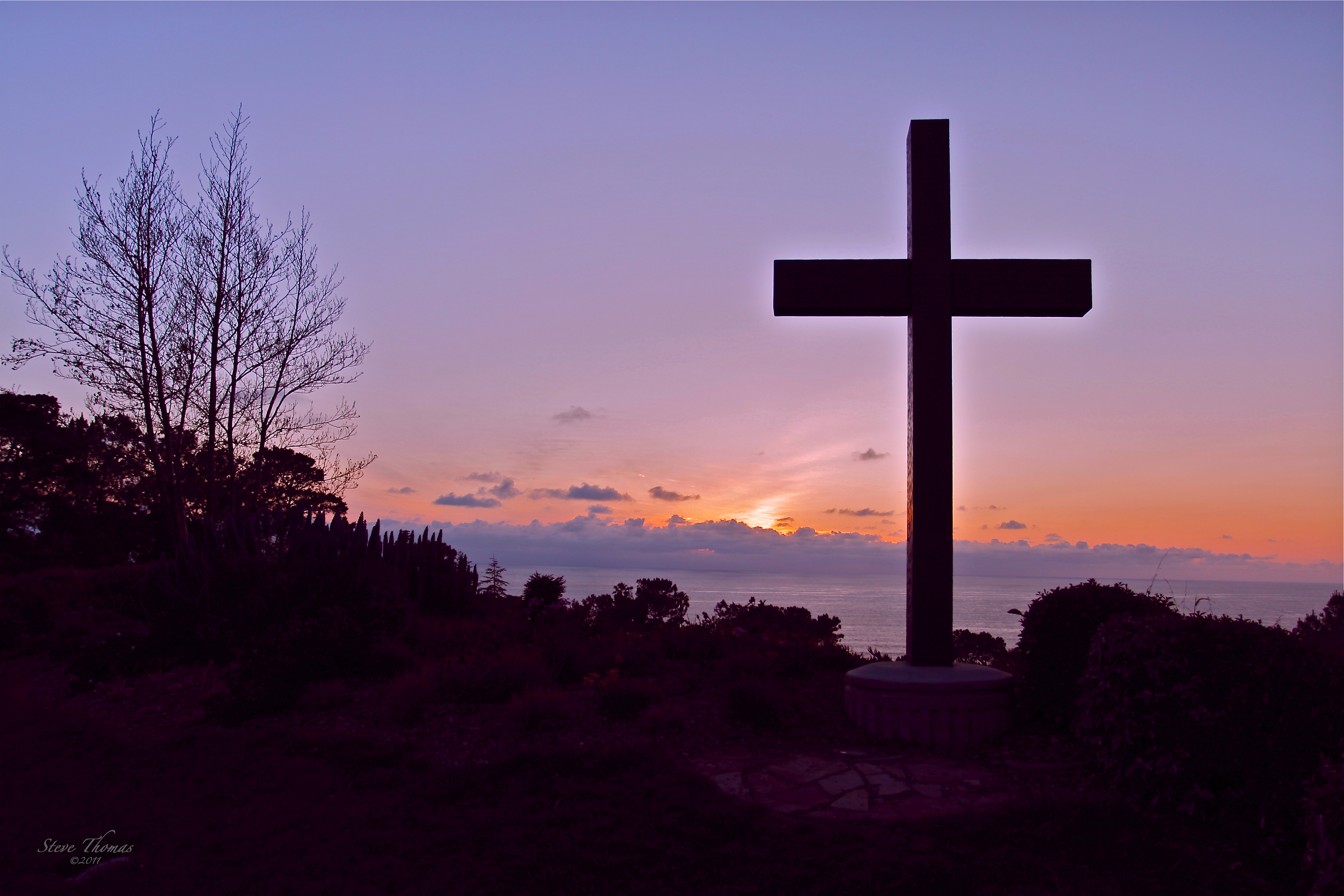 Cross Sunset On The Hill Pictures To Pin On Pinterest
