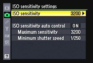ISO Sensitivity