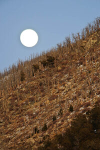 Moon overexposed