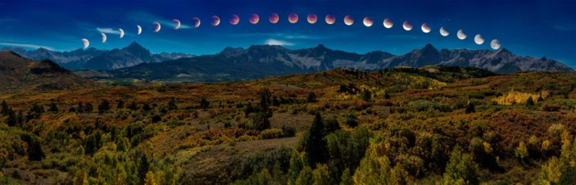Total Lunar Eclipse - Blood Moon Phases
