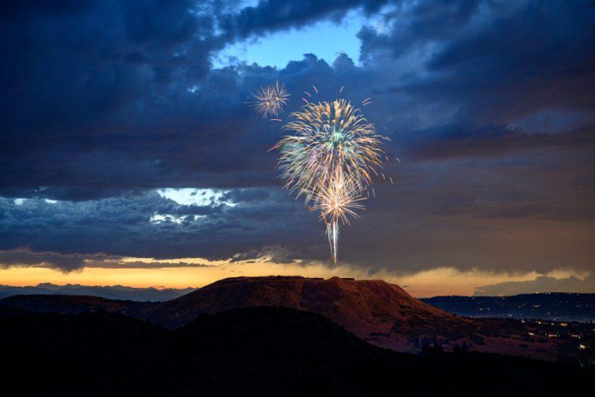 Fireworks. Captured with Nikon Z 24-70mm f2.8 S lens