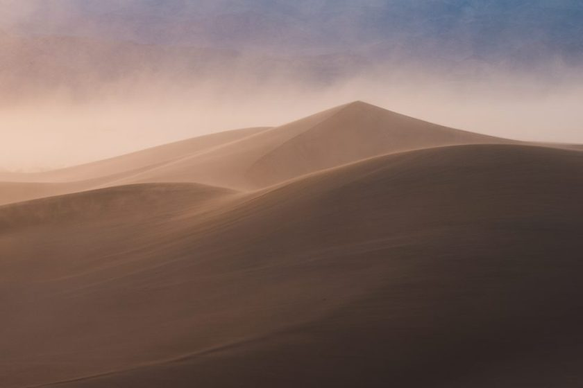 Same Photo of Pyramid Dune with Tone Curve and HSL Lightroom Adjustments