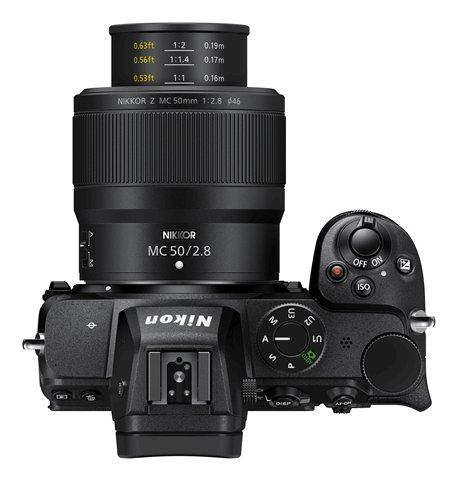 Nikon Z MC 50mm f2.8 Macro at close focus distance