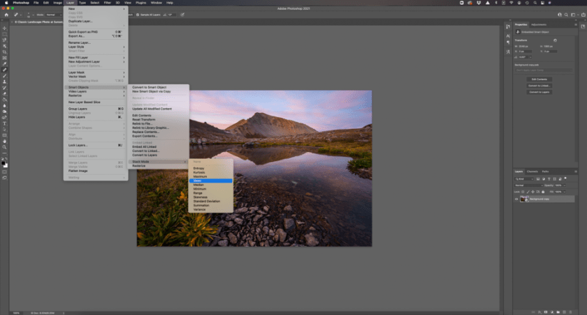 How to Image Average in Photoshop