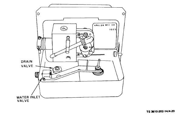 Figure 4-20. Humidifier Assembly (Drain Valve and Water