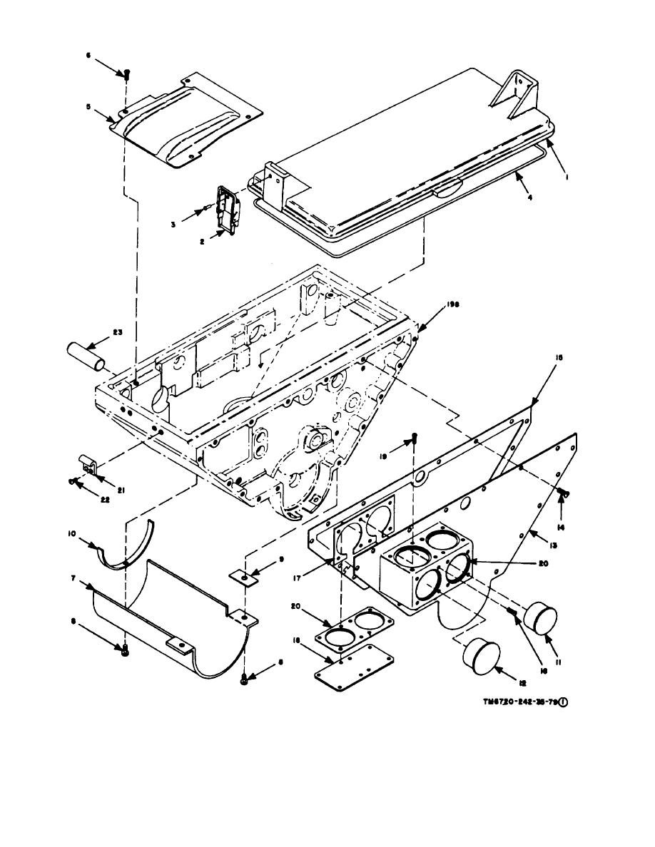 Figure 3-4. Body, exploded view (part 1 of 6)