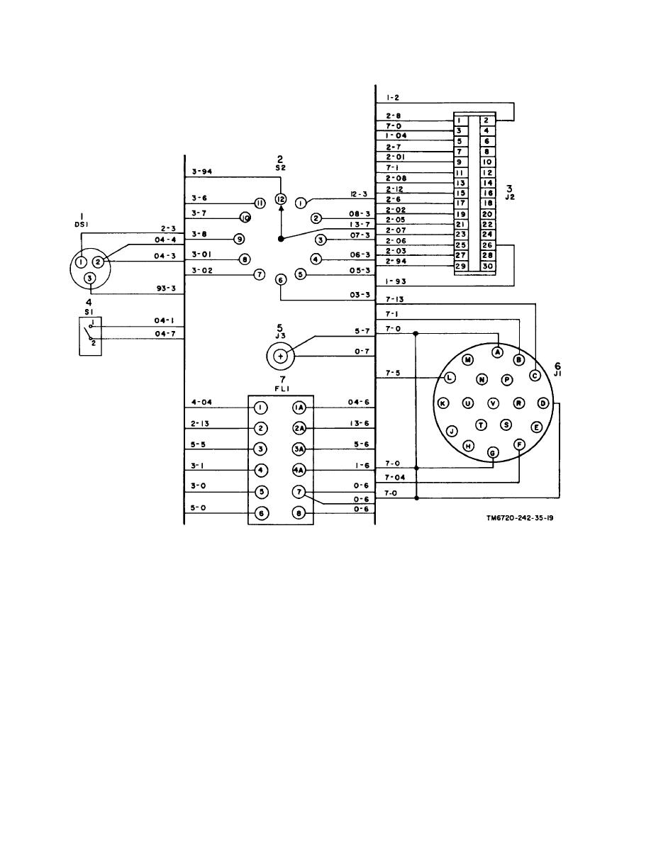 Figure 6-2. V/H control panel, wiring diagram.