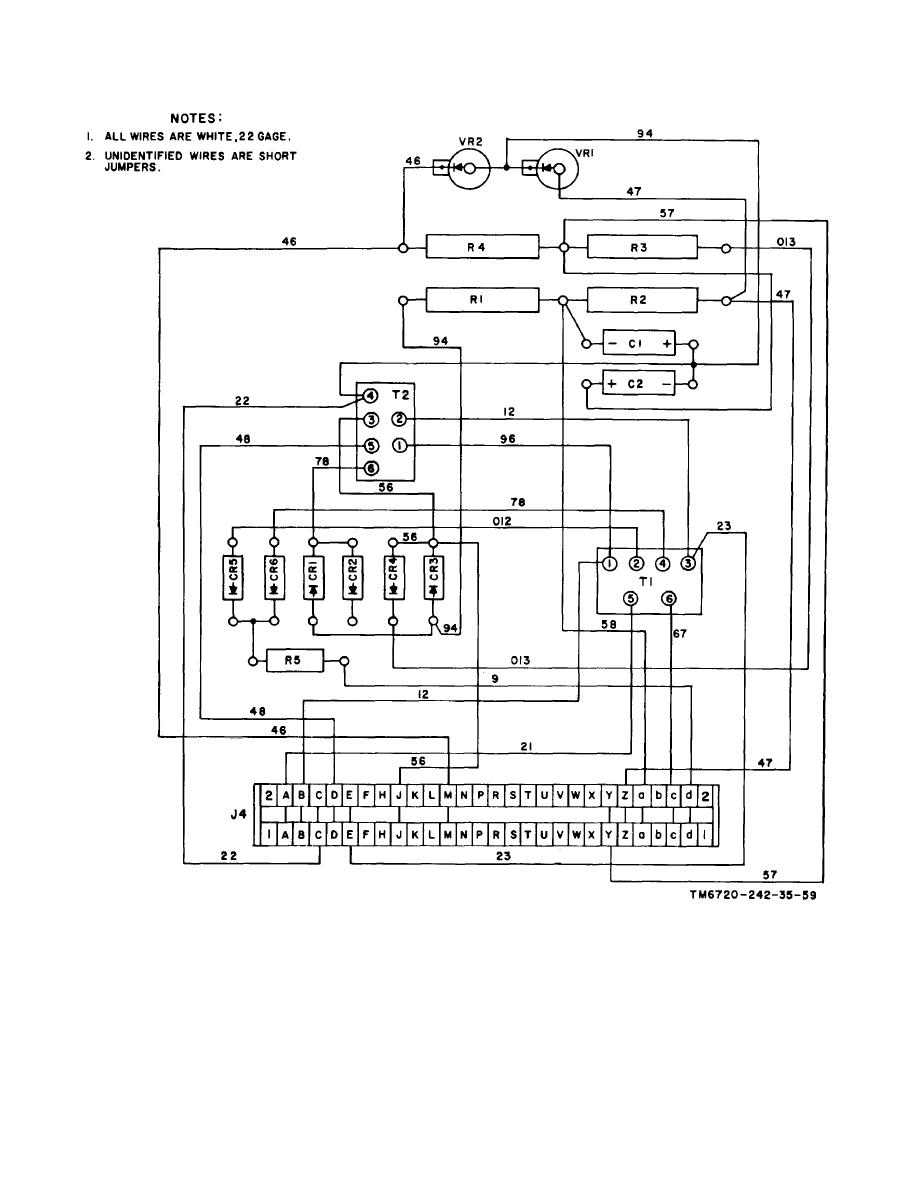 Figure 6-35. Power supply assembly, point-to-point wiring
