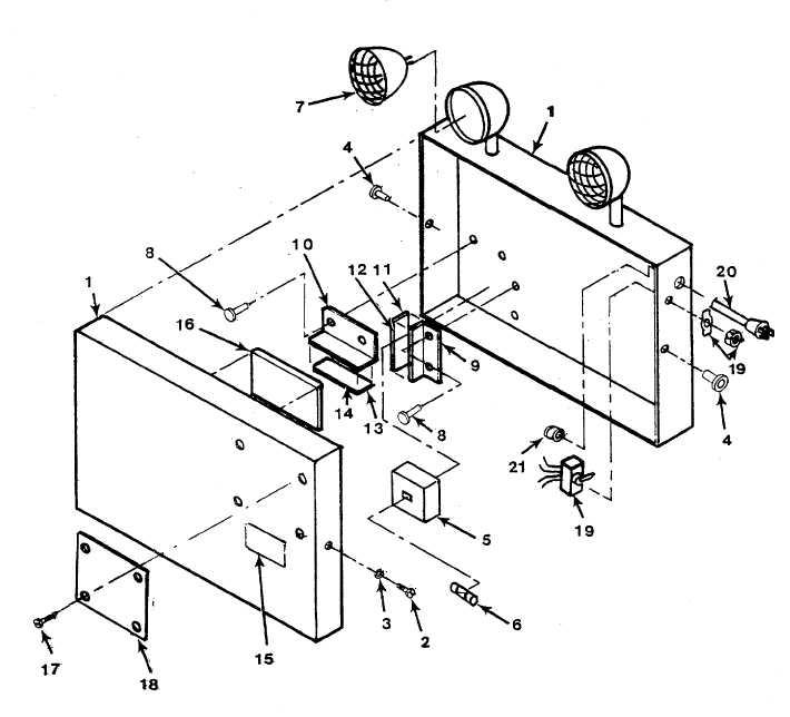 Figure 36. Emergency Light Installation