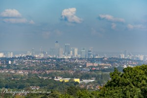 View towards London (using Dehaze filter)